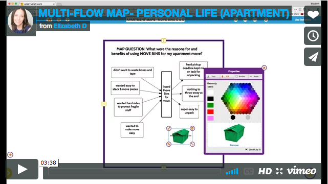 Multi-flow Map - Personal Life (Apartment)