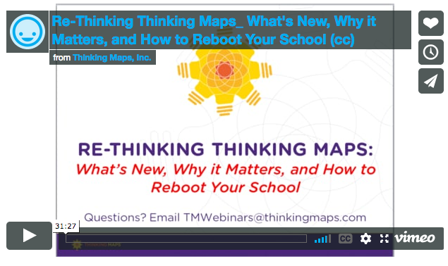 Re-Thinking Thinking Maps What's New, Why it Matters, and How to Reboot Your School