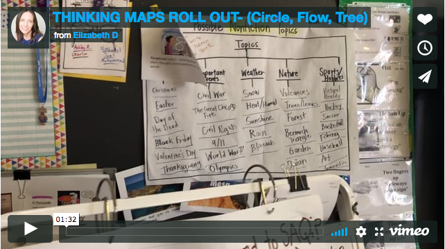Thinking Maps Roll Out - (Circle, Flow, Tree)